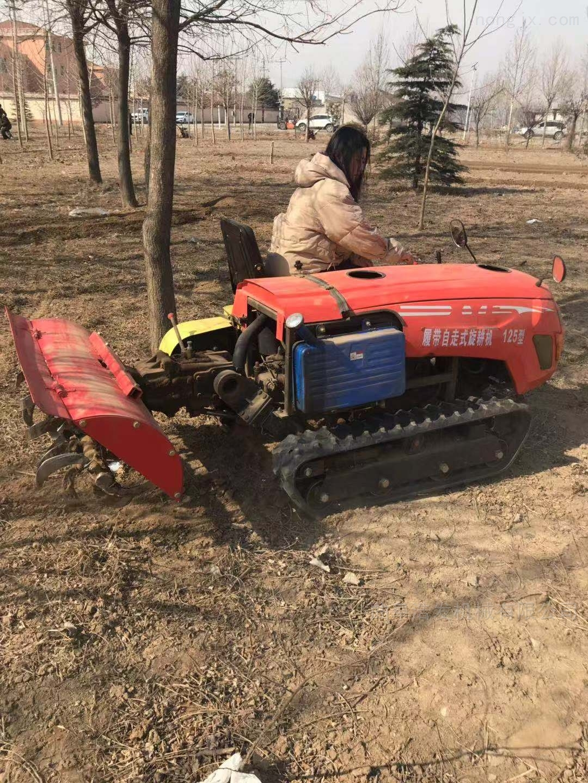坦克式深松土壤旋耕机 水冷橡胶轮胎开沟机