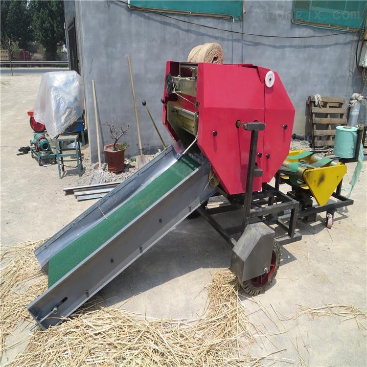 牧场秸秆打捆机 切膜式打包机 圆形草捆机厂