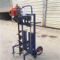 新款单人手提挖坑机 四轮车载地钻机
