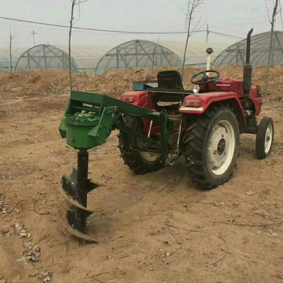 種樹苗挖坑機 硬土質打坑機 拖拉機鑽坑機