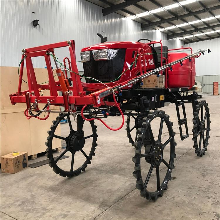 農作物新款四輪打藥機 哪里買自走式打藥車