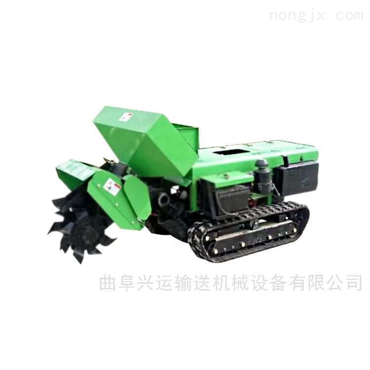 柴油履带开沟机果园施肥除草机厂家 施肥机
