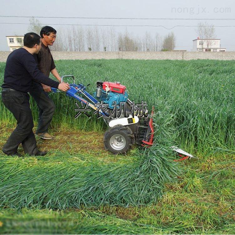 小型牧草收割机 四轮艾叶割晒机割台厂家
