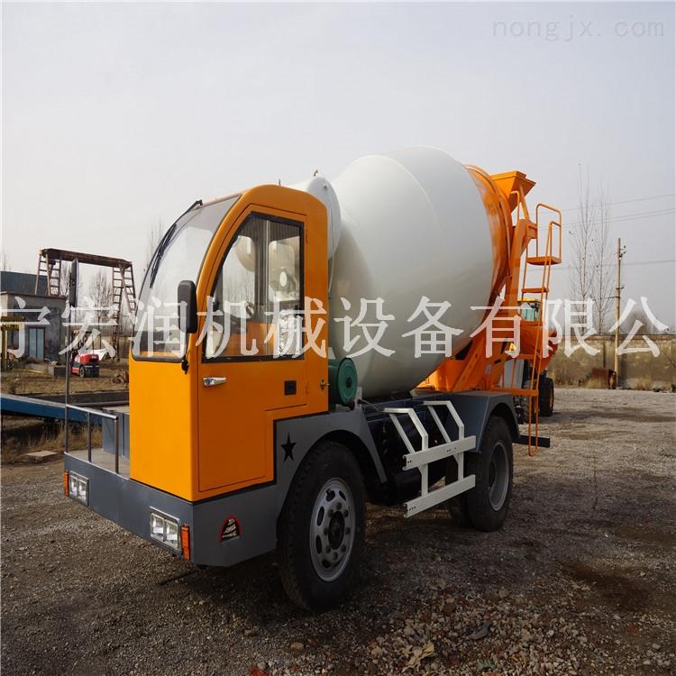 混凝土搅拌车 4方自上料混凝土搅拌运输车  建筑农用搅拌车