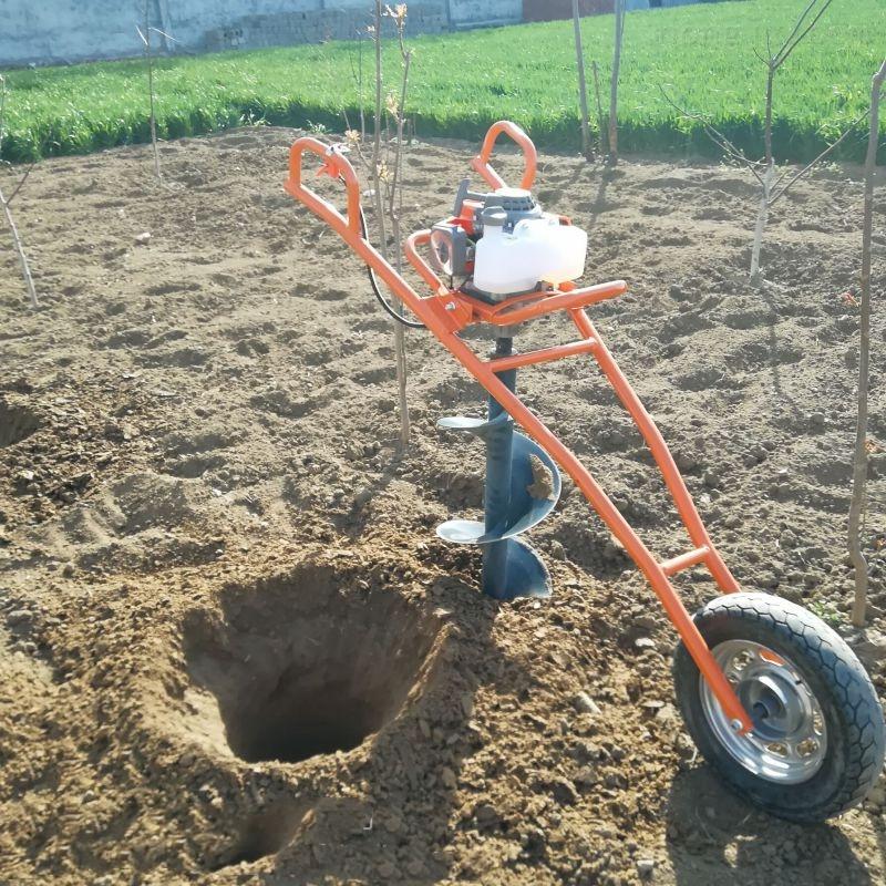 6.5马力栽树挖坑机植树打坑机