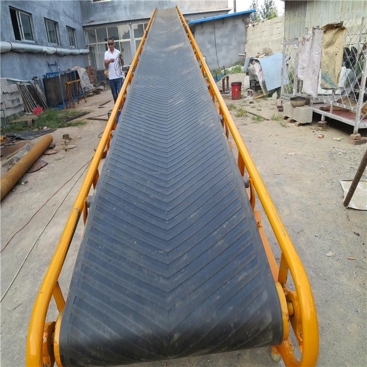 移动防滑带式输送机 工业皮带运输机可定制