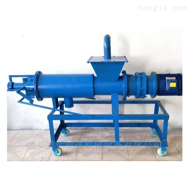 养殖污水处理设备 动力强劲 斜筛式猪粪固液分离机可以处理各种粪便处理淀粉渣x