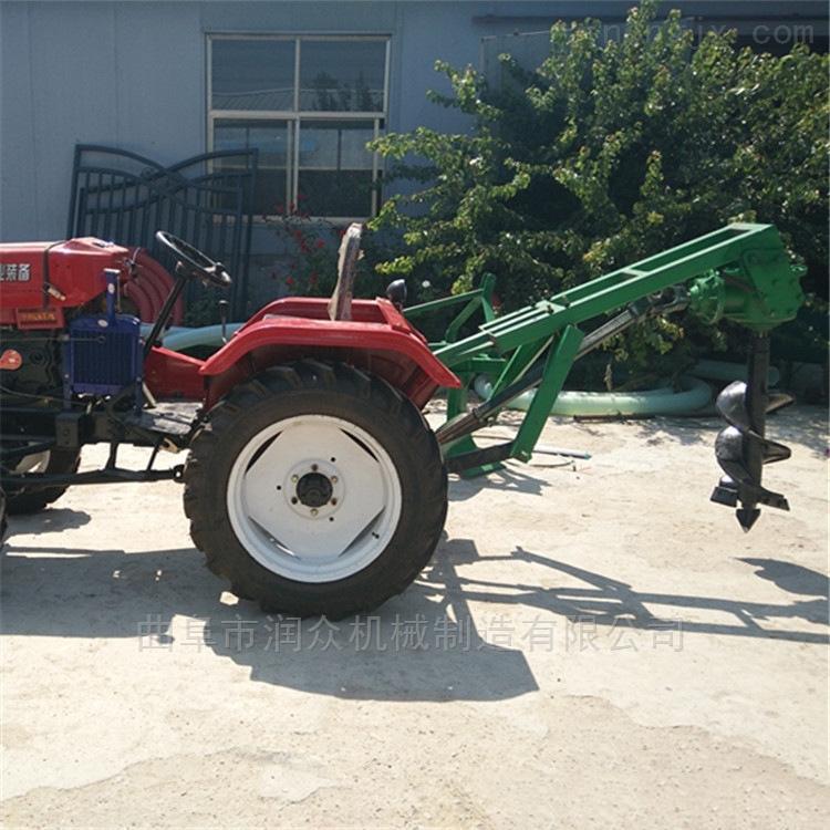 四轮拖拉机带挖坑种树机 葡萄园立杆挖坑机