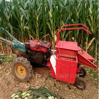 12匹手扶拖拉机带单行玉米收割机扒皮