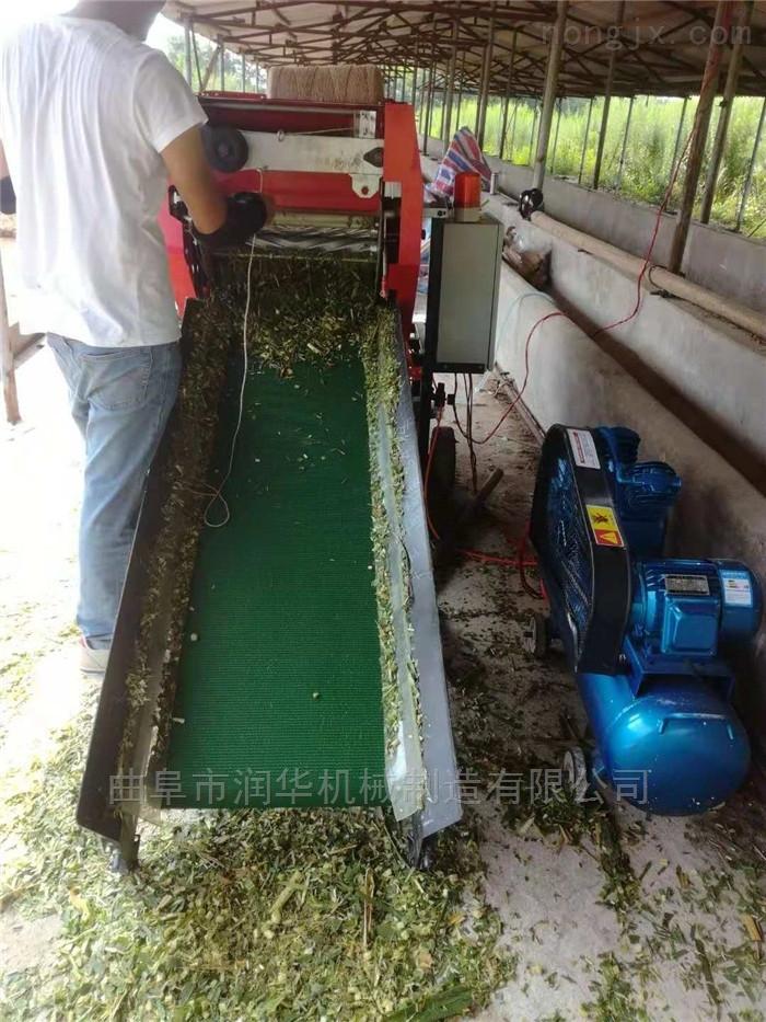 养殖畜牧草青储包膜机 玉米秸秆圆捆打包机