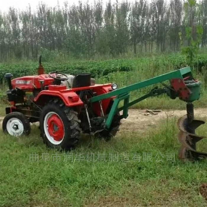 山地植树打窝钻孔打坑机 拖拉机悬挂挖坑机