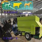 双侧出料3方电动撒料车 牛羊饲草柴油喂料车