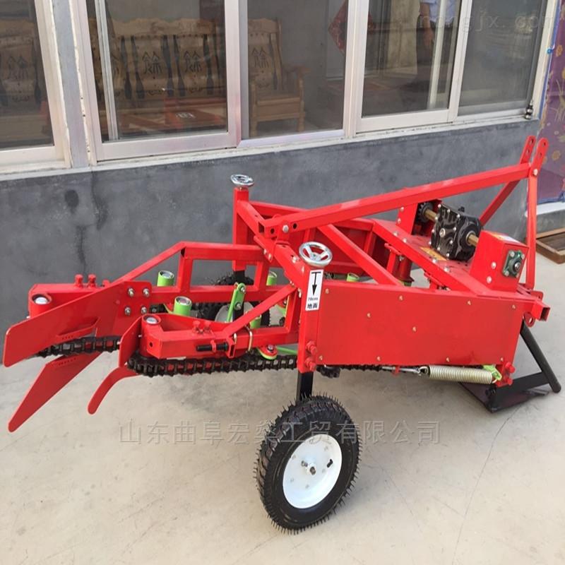 四輪帶收花生機器 鏈條式花生挖掘機