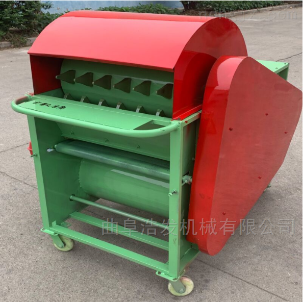 毛豆自动脱荚采摘机 汽油机带青大豆脱荚机
