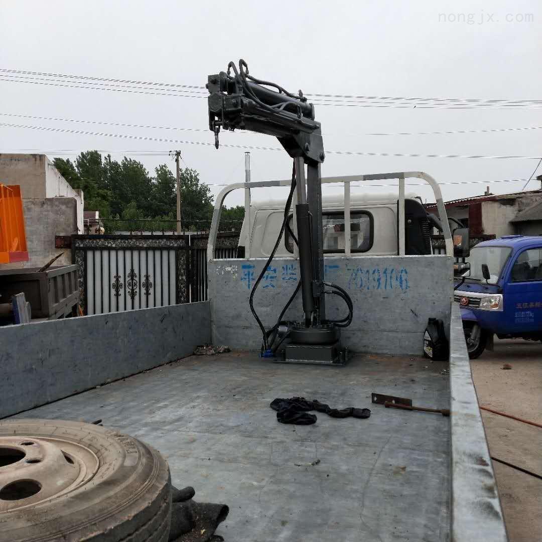 小型折叠吊臂吊机 改装车载折臂吊 1吨2吨小型吊机平板小吊车