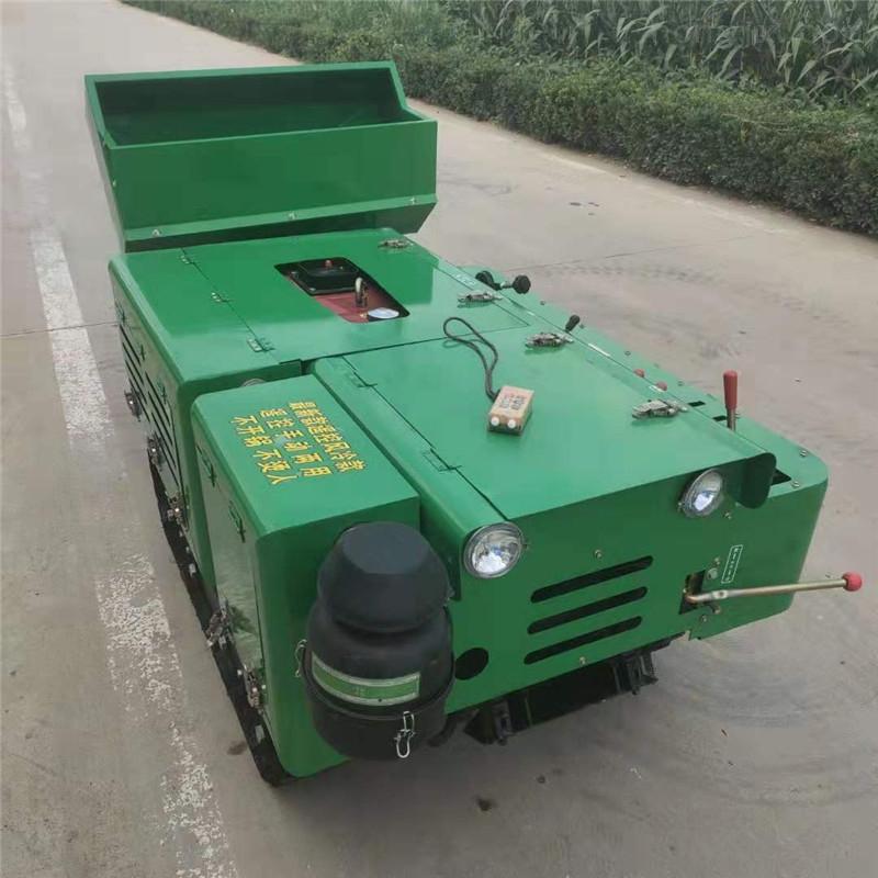 遥控履带式果园除草机柴油旋耕机