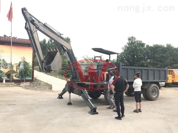 16吨汽车自制小吊车随车挖高配置二手挖掘机