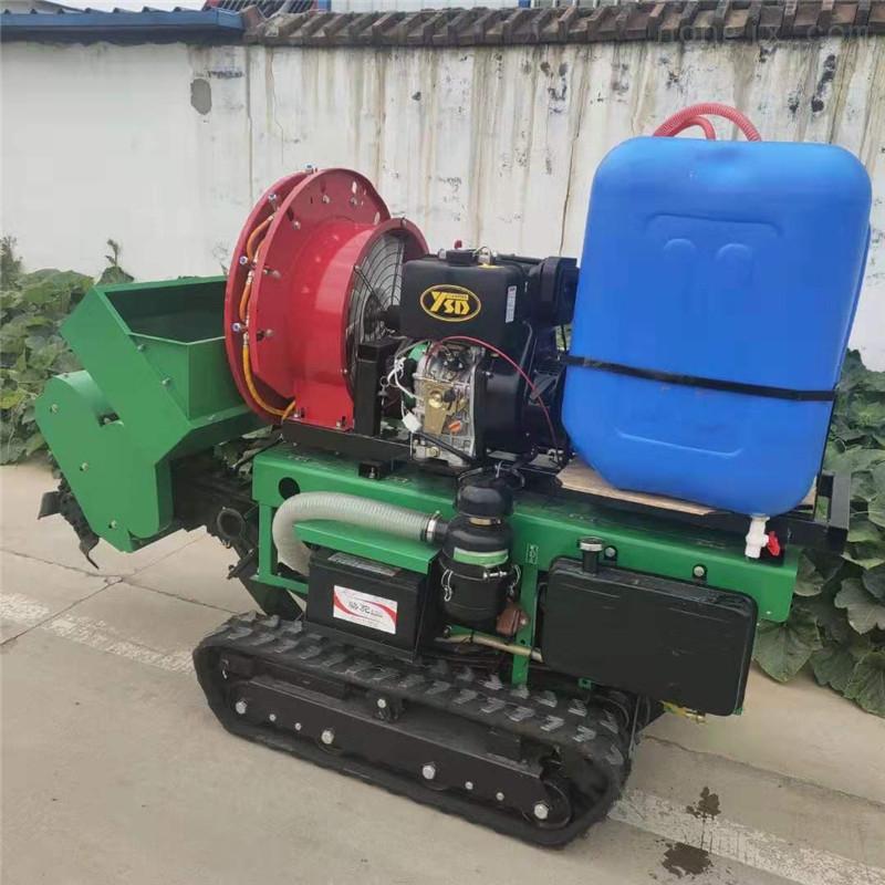 自走式果园开沟施肥机 柴油履带旋耕机