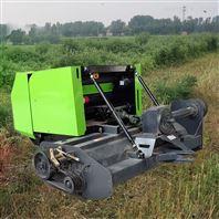 全自动玉米秸秆收割捡拾粉碎圆捆打捆一体机