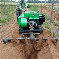 履带式自走田园管理机 果树均匀施肥回填机