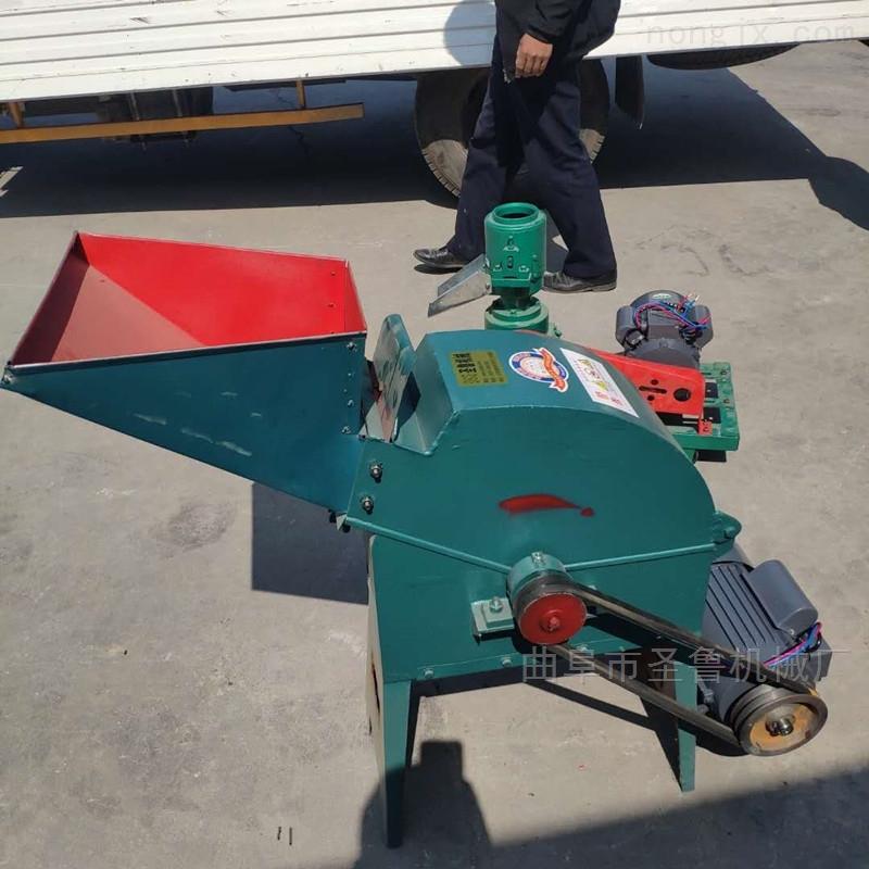 沙克龙秸秆粉碎机自动进料玉米制糁打糁机