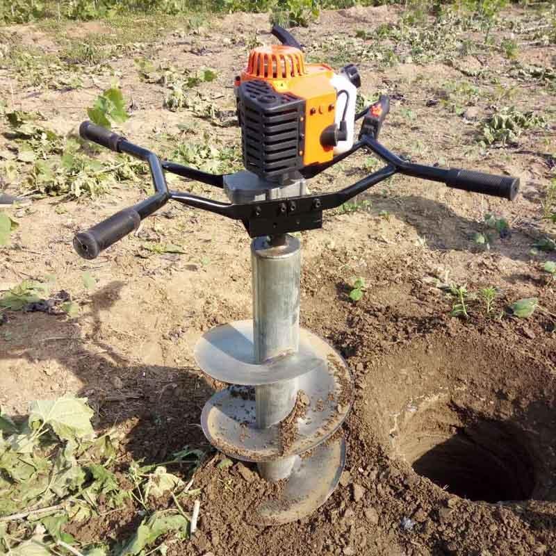 汽油机钻地打桩种植施肥机挖坑机打洞机