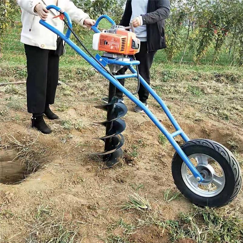 手提挖樹坑機 蔬菜大棚埋樁鉆窩機