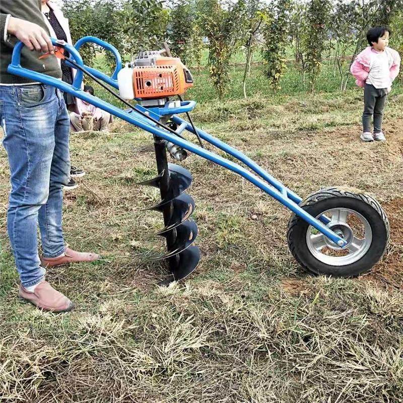 苗圃栽种挖坑机 拖拉机后悬式打坑机