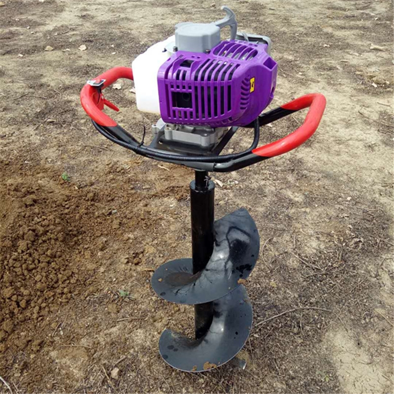 独轮植树挖坑机汽油种植钻坑机
