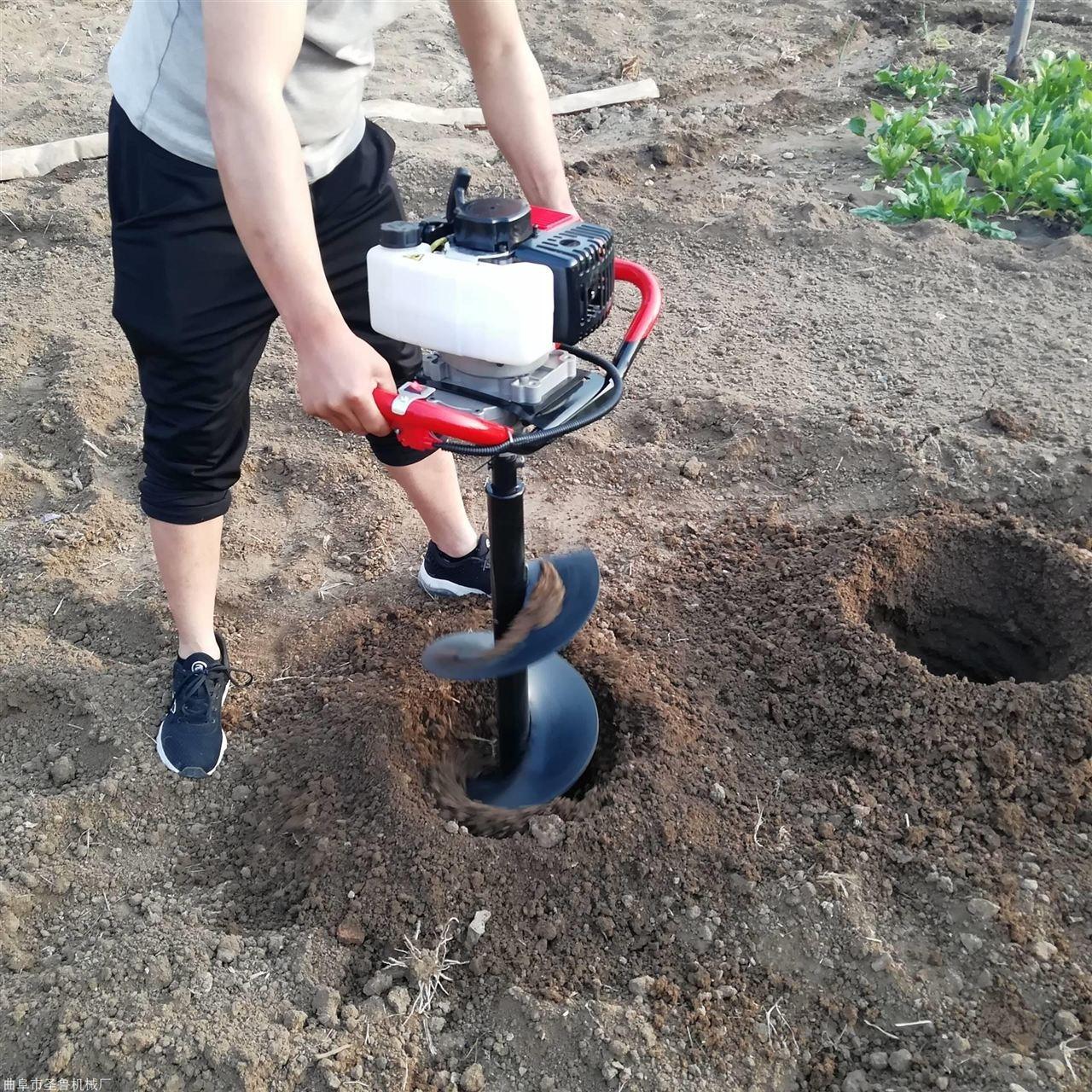 小型便携手提式打坑机植树挖坑机地钻
