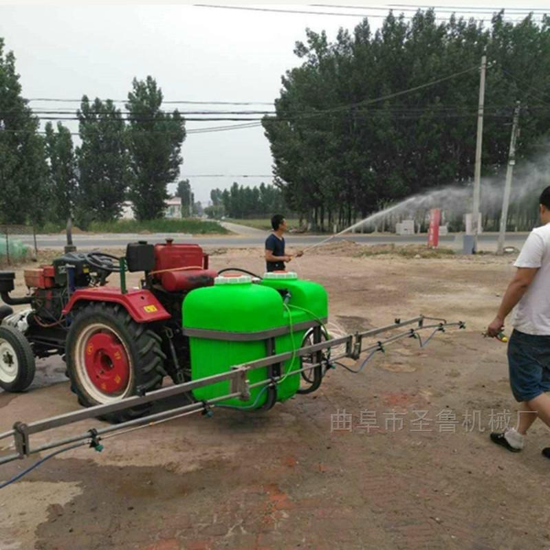 四轮车载式麦地喷雾器大型宽幅打药机