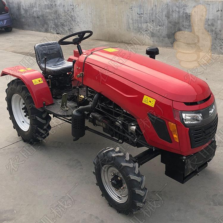 多缸四轮旋耕打田机后驱动农用四轮拖拉机