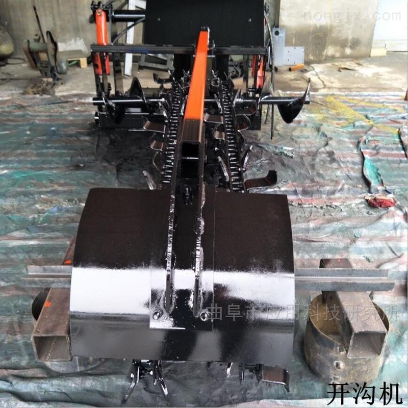 """山东""""科阳""""新型柴油自走式开沟机"""