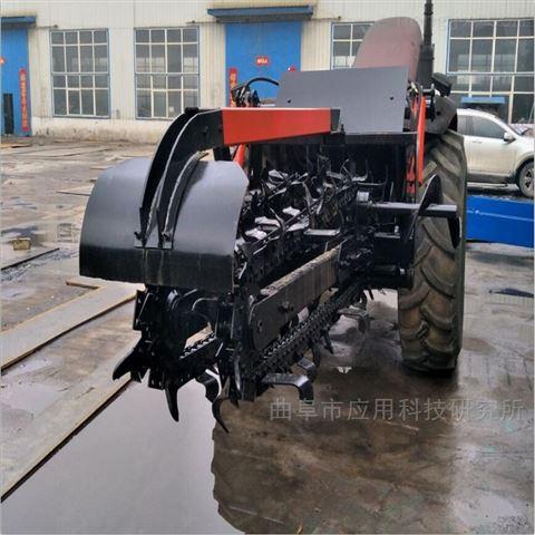 山東科陽大型拖拉機帶鏈條式開溝機廠家定制