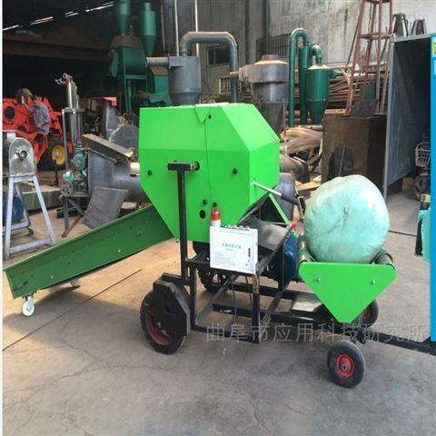 新型干草青儲飼料包膜一體機