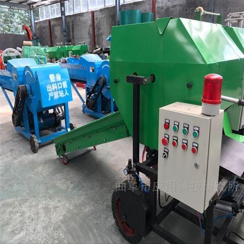 山東科陽干草養殖全自動青貯包膜一體機定制
