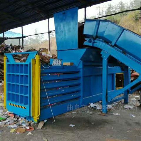80噸液壓臥式全自動黃紙皮打包機定制