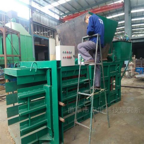 科陽80噸液壓臥式全自動黃紙皮打包機定制